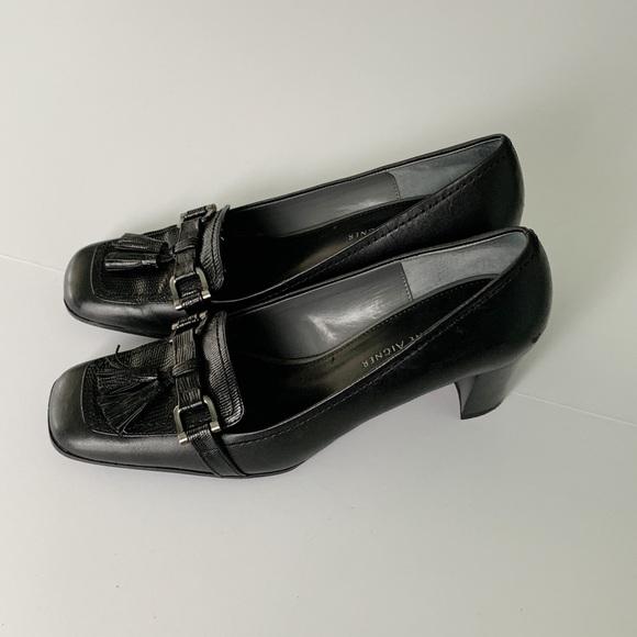 0b286f61a0 Etienne Aigner Shoes   Black Leather Smart Career Pumps   Poshmark
